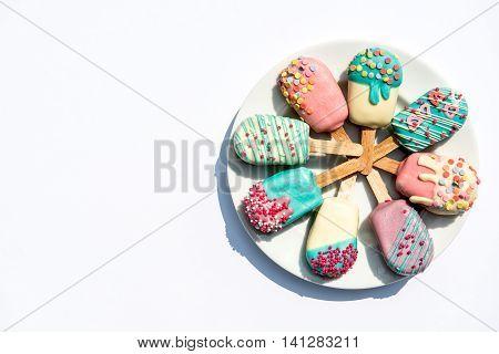 Sweet Cake Pops Ice Creams