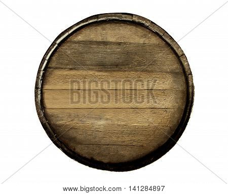 A Wine barrel isolated on white background