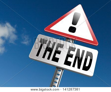 the end road sign to finish point way out 3D illustration