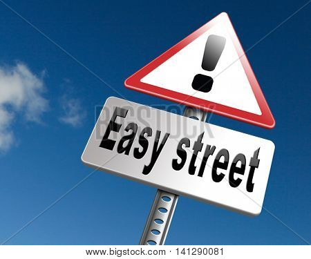 easy street and best way to do things simple and correct no risk and safe 3D illustration