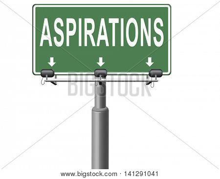 Aspirations and future goals and ambition, achieving target goal. 3D illustration