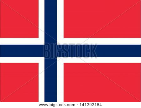 Flag of Norway patriotism vector single object design element
