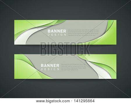 Abstract Banner Set Design