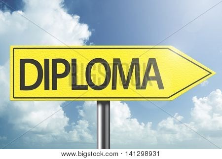 Diploma yellow sign