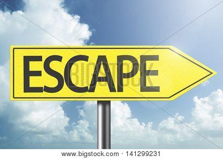 Escape yellow sign