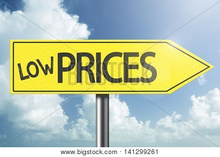 Low Prices yellow sign