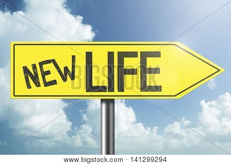 New Life yellow sign