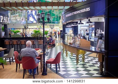 SINGAPORE - CIRCA NOVEMBER, 2015: Paul Singapore Changi Airport. Paul is a French chain of bakery/cafe restaurants