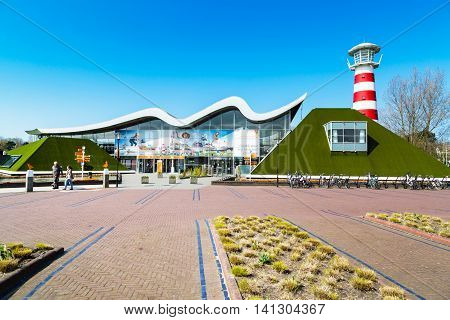 Hague, Netherlands - April 8, 2016: Entrance to Madurodam, Holland miniature park and tourist attraction in Hague, Netherlands