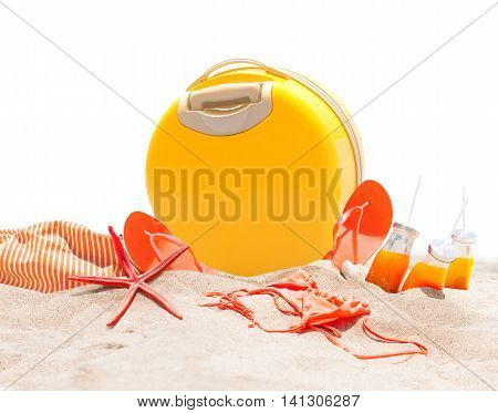 Holidays Accessories Travel Advertizing Concept