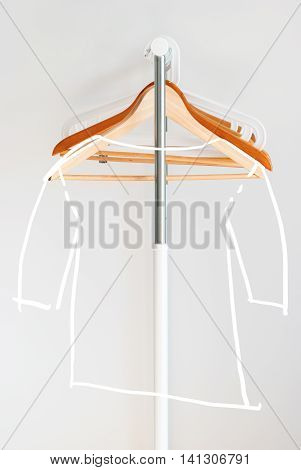 Nothing To Wear Sketch T-shirt Design Concept Coat Hanger