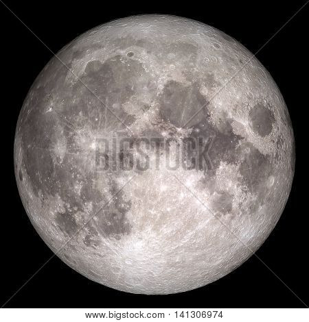 Closeup of full moon. Elements of this image furnished by NASA
