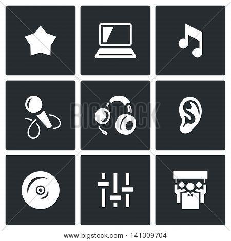 Star, Notebook, Note, Microphone, Headphone, Ear, CD, Mixer, Spectator