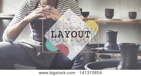 Layout Blueprint Design Editing Printing Art Concept