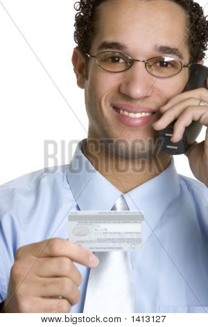 Credit Card Phone Man