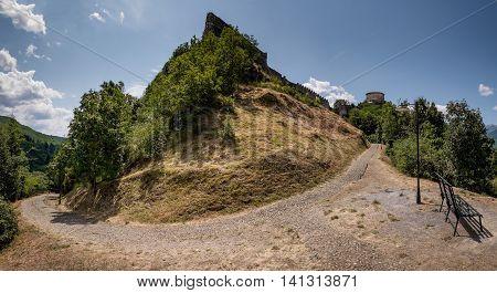 Garfagnana Tuscany Italy - Verrucole fortress San Romano in Garfagnana