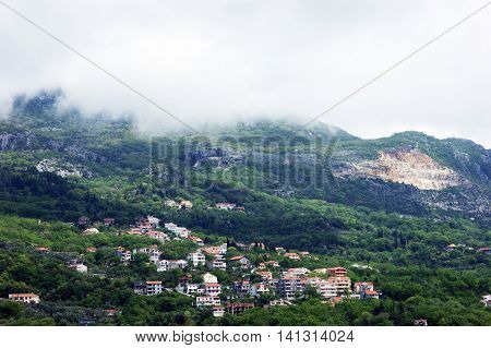 The village in the mountains of Montenegro