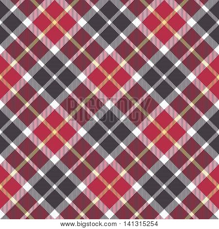 Red and gray check plaid seamless pattern. Vector illustration.