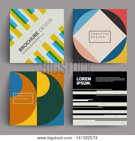 Abstract covers set. Modernism. Applicable for Covers, Placards, Posters, Flyers and Banner Designs.