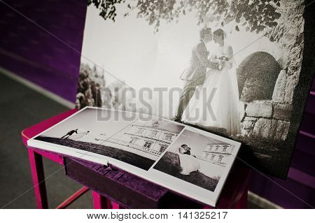 Violet Velvet Photo Book And Album With Big Picture