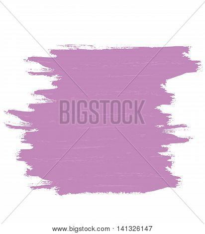 Purple banner of brushstrokes. Vector design element