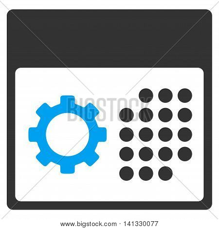 Service Binder vector icon. Style is bicolor flat symbol, blue and gray colors, rounded angles, white background.