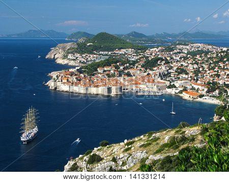 Dubrovnik Croatia sea bay tourist attraction - The historic town