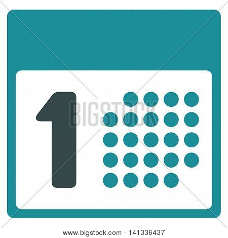 First Date vector icon. Style is bicolor flat symbol, soft blue colors, rounded angles, white background.
