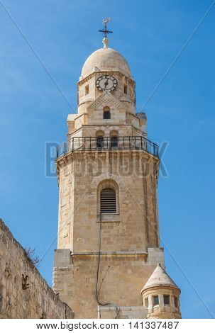 Dormition Abbey on Mount Zion in Jerusalem Israel