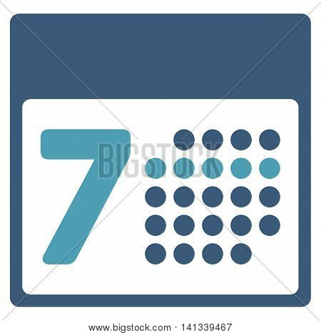 Syllabus Week vector icon. Style is bicolor flat symbol, cyan and blue colors, rounded angles, white background.