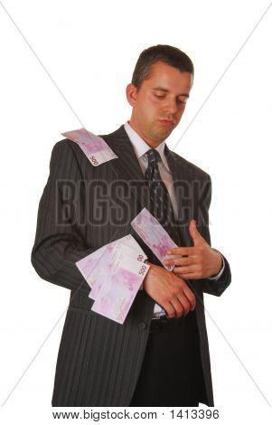 Businessman With 500 Euros