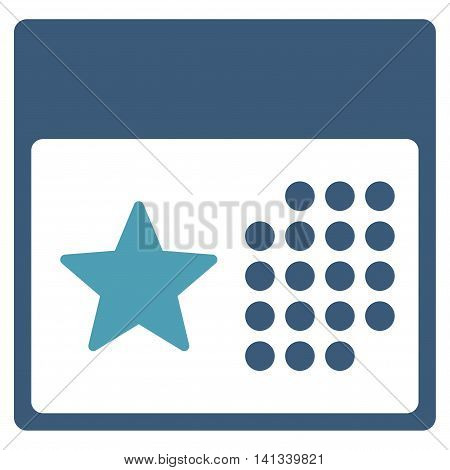 Holiday Binder vector icon. Style is bicolor flat symbol, cyan and blue colors, rounded angles, white background.