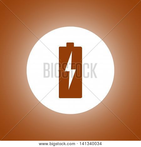 Illustration Of Flat Battery Sign Vector Charging Energy