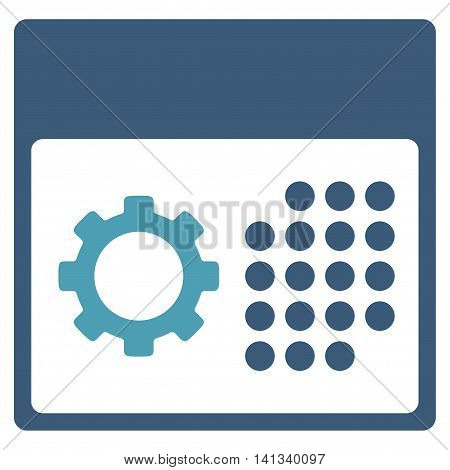 Service Syllabus vector icon. Style is bicolor flat symbol, cyan and blue colors, rounded angles, white background.