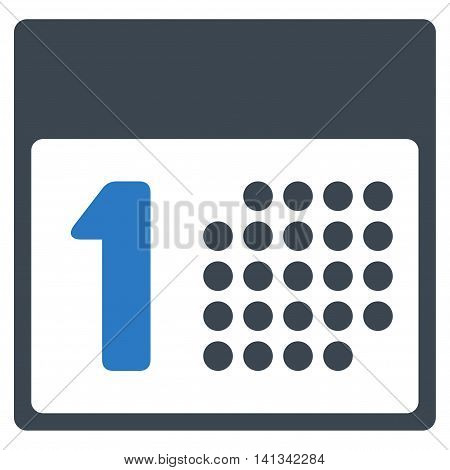 First Date vector icon. Style is bicolor flat symbol, smooth blue colors, rounded angles, white background.