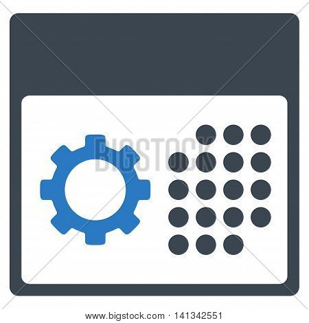 Service Organizer vector icon. Style is bicolor flat symbol, smooth blue colors, rounded angles, white background.