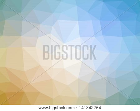 Yellow Teal Gradient Abstract Low Polygon Shaped Background