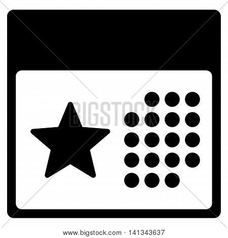 Holiday Syllabus vector icon. Style is flat symbol, black color, rounded angles, white background.