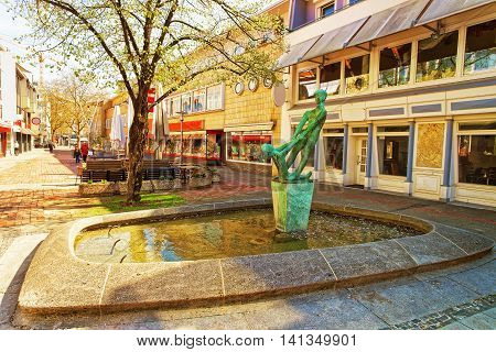 Fountain In The Old Street In Hanover In Germany