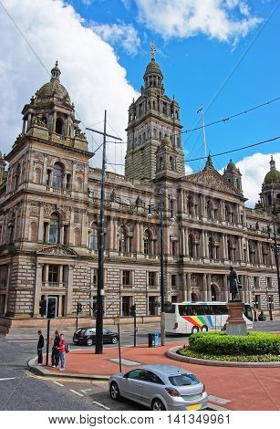 Glasgow City Chambers On George Square Of Glasgow