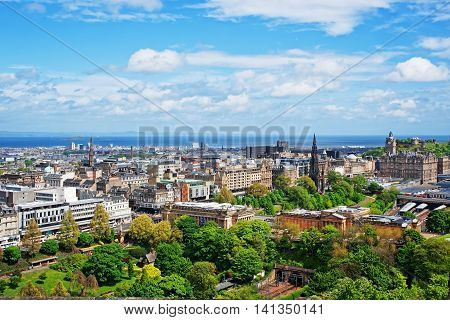Old Town In Edinburgh In Scotland