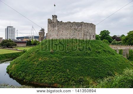Watchtower In Cardiff Castle In Cardiff In Wales
