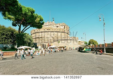 Castle Of The Holy Angel In Rome Italy