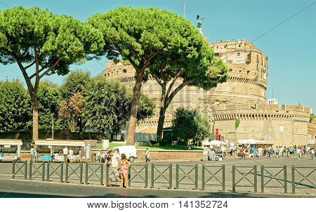 Castle Of The Holy Angel In Rome Of Italy
