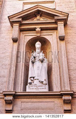 Detail Of Saint Peter Basilica In Vatican In Italy