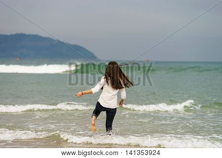 Young Girl On The China Beach In Danang Vietnam