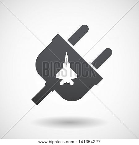 Isolated Male Plug With A Combat Plane
