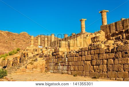 The Great Temple of Petra, UNESCO heritage site in Jordan