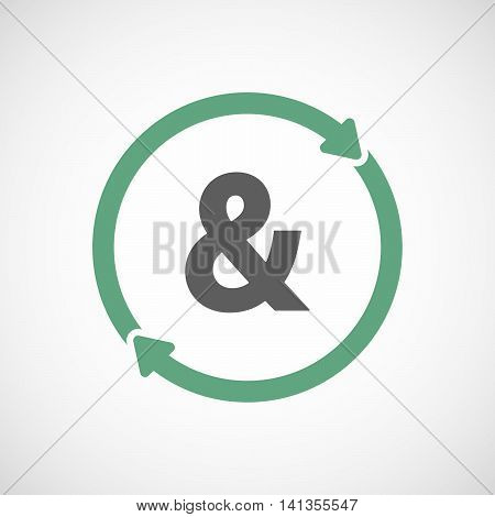 Isolated Reuse Icon With An Ampersand