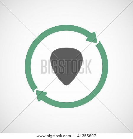 Isolated Reuse Icon With A Plectrum